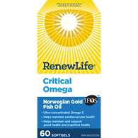Renew Life Critical Omega Ultra Concentrated Essential Omega 3
