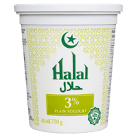 Halal Yogurt, Plain 3%