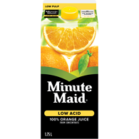 Low Acid Orange Juice, Low Pulp
