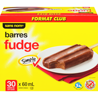 Barres au fudge, format Club