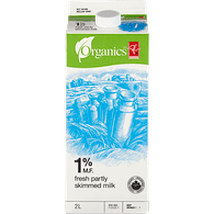 Organics Partly Skimmed 1% Milk