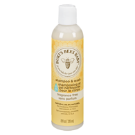 Baby Bee Shampoo & Wash, Fragrance Free