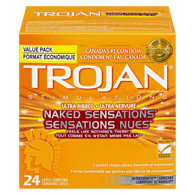 Naked Sensations Ultra Ribbed Condoms