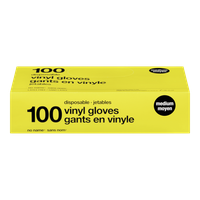 Vinyl Disposable Gloves, Medium