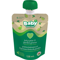 6 Months+, Juicy Pear & Garden Greens