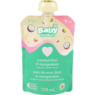 Organic Baby Gourmet Plus 8 Months+, Coconut Kiwi & Mangosteen with Quinoa