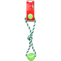 Cotton Tug Rope with 2 Tennis Balls