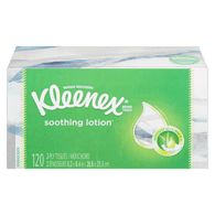 Facial Tissues with Lotion, 3 Ply