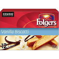 Folgers Gourmet Selections Vanilla Biscotti