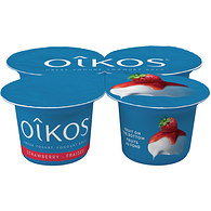 Strawberry 2% M.F. Greek yogurt,4x100g