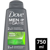 Men+Care  2 In 1 Shampoo and Conditioner, Fresh Clean