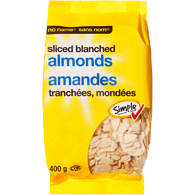 Almonds, Slices