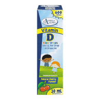 Vitamin D Kids' Drops, Natural Cherry Flavour
