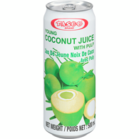 Tasco Brand Coconut Juice With Pulp