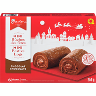 Mini Festive Logs, Chocolate