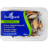 New Zealand Green-Lipped Mussels in the Half Shell