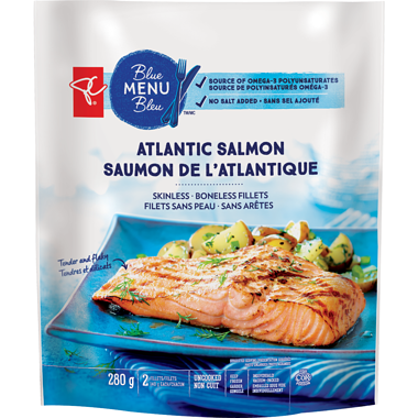 PC Blue Menu Atlantic Salmon Skinless Boneless Fillets
