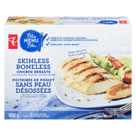 Skinless, Boneless Seasoned Chicken Breasts Fillets Removed