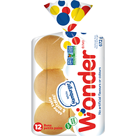 12 Pack Hamburger Rolls, White