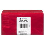 2 Ply Dinner Napkins, Red