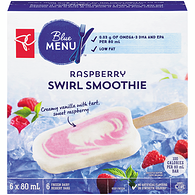 Blue Menu Swirl Smoothie Bars, Raspberry