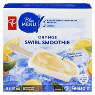 Blue Menu Swirl Smoothie Bars, Orange