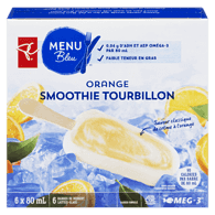 Barres Smoothie tourbillon Menu bleu – orange