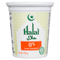 Halal Yogurt, Plain 0%