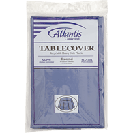 Navy Table Cover, 84 in Round