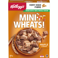 Mini Wheats, Maple Flavour