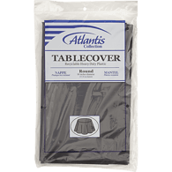 Black Table Cover, 84 in Round