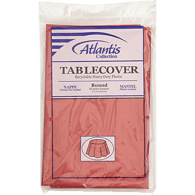 Red Table Cover, 84 in Round