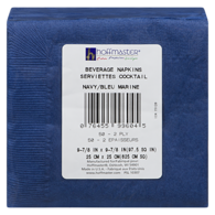 Navy 2 Ply Beverage Napkin, 9 x 9 in