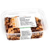 Deluxe Roasted Mixed Nuts, Unsalted