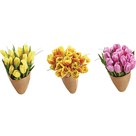 Fresh Cut Tulips with Beargrass, 15 stem