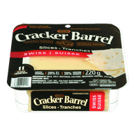Cracker Barrel Cheese Slices, Swiss