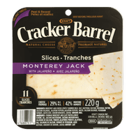 Cracker Barrel Cheese Slices, Monterey Jack
