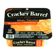 Cracker Barrel Cheese Slices, Marble Cheddar