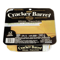 Cracker Barrel Cheese Slices, Medium Light