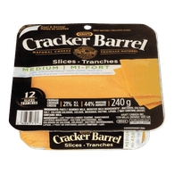 Cracker Barrel Tranches de fromage cheddar léger