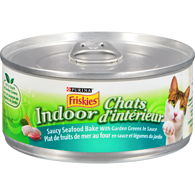 Indoor Saucy Seafood Bake with Garden Greens Cat Food
