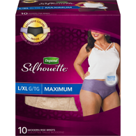Silhouette Briefs for Women, L/XL