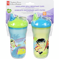 9oz Insulated Spill-Resistant Cups with Hard Spouts, 12+ Months