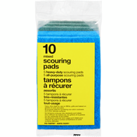Heavy Duty Scouring Pads, Assorted