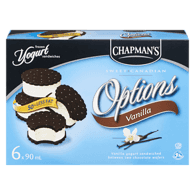Options Frozen Yogurt Sandwiches, Vanilla