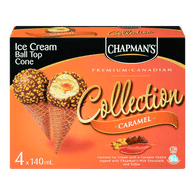Canadian Collection Ball Top Ice Cream Cones, Caramel