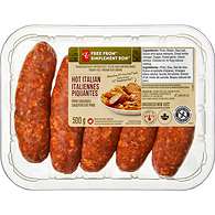 Free From Hot Italian Pork Sausages