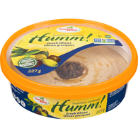 Hummus, olives grecques