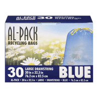 Al-Pack Blue Drawstring Bags