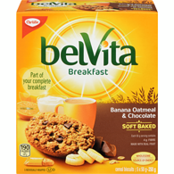 Belvita Soft Baked Breakfast Biscuits, Banana Oatmeal & Chocolate